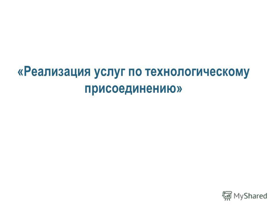 «Реализация услуг по технологическому присоединению»