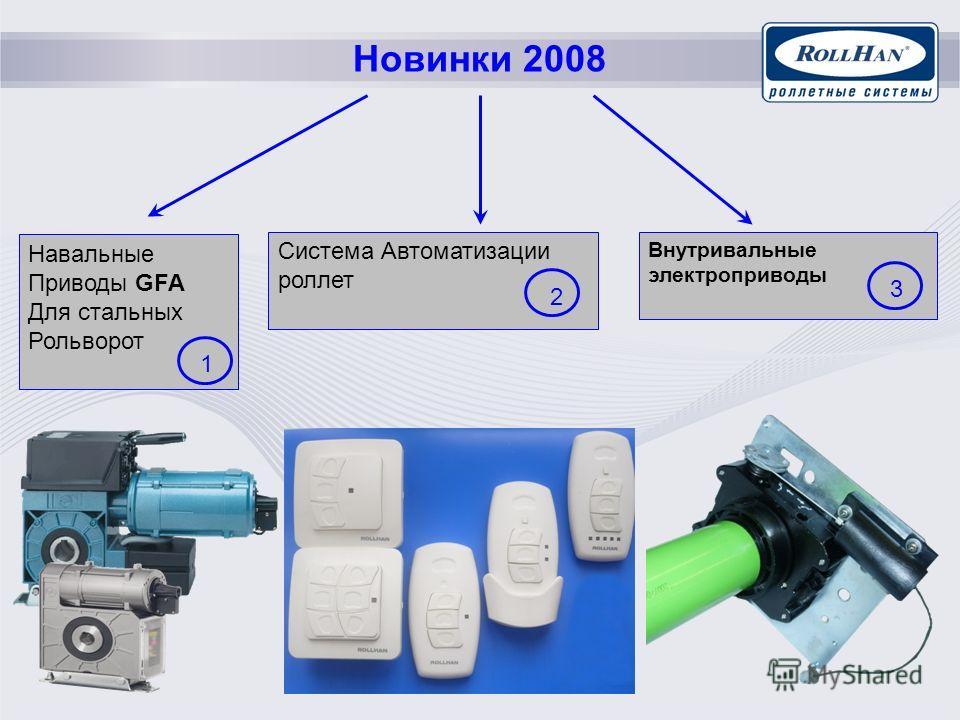 Новинки 2008 Внутривальные электроприводы Навальные Приводы GFA Для стальных Рольворот Система Автоматизации роллет 1 2 3