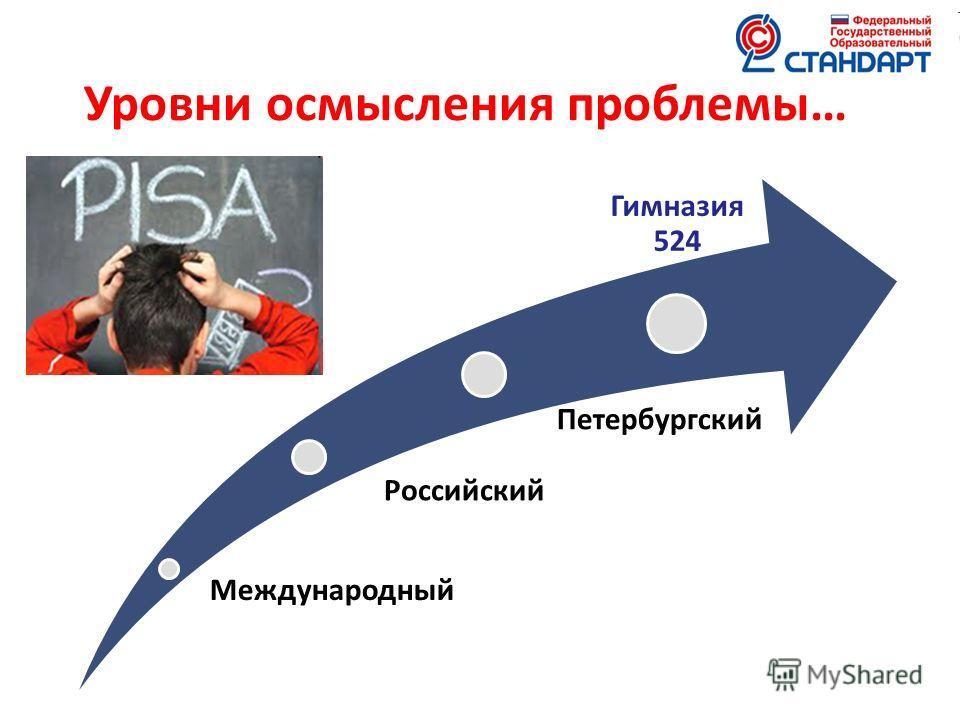 Международный Российский Петербургский Гимназия 524 Уровни осмысления проблемы…