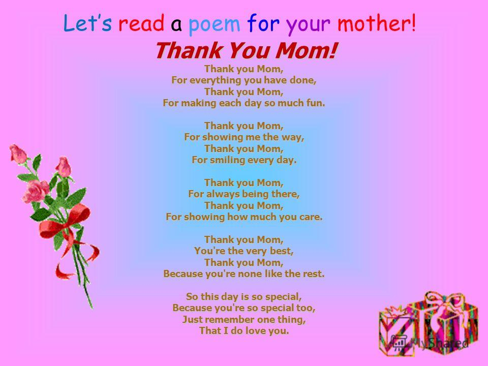 Mothers' day is a day dedicated to mothers. A mother is a special person in the life of any human being. This day is a real special one. There are different ways to express how dear your mother is to you. As a part of mother's day celebration, make a