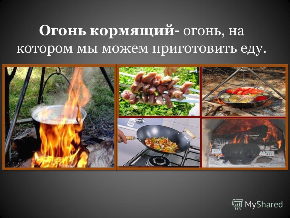 Огонь кормящий- огонь, на котором мы можем приготовить еду.