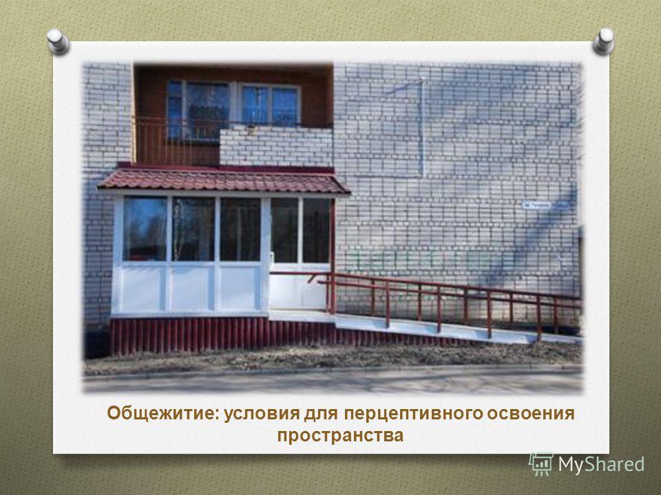 Общежитие: условия для перцептивного освоения пространства