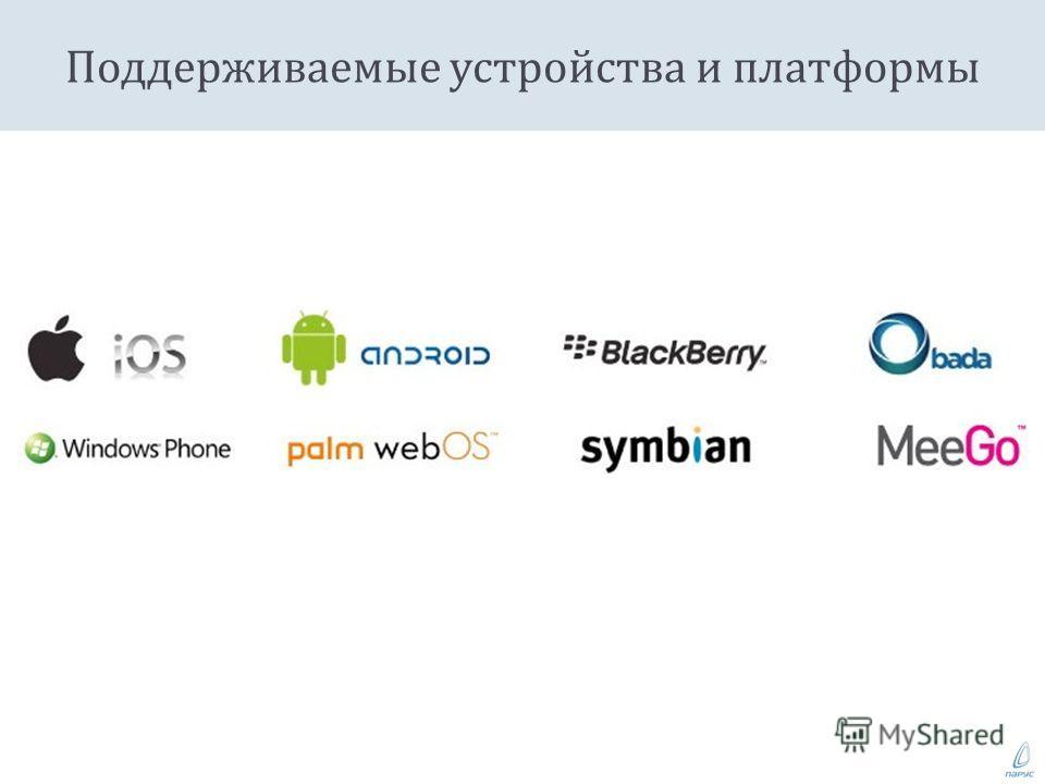 Поддерживаемые устройства и платформы