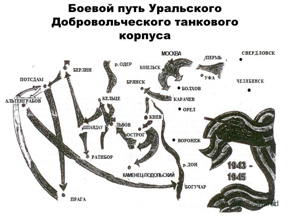 Боевой путь Уральского Добровольческого танкового корпуса