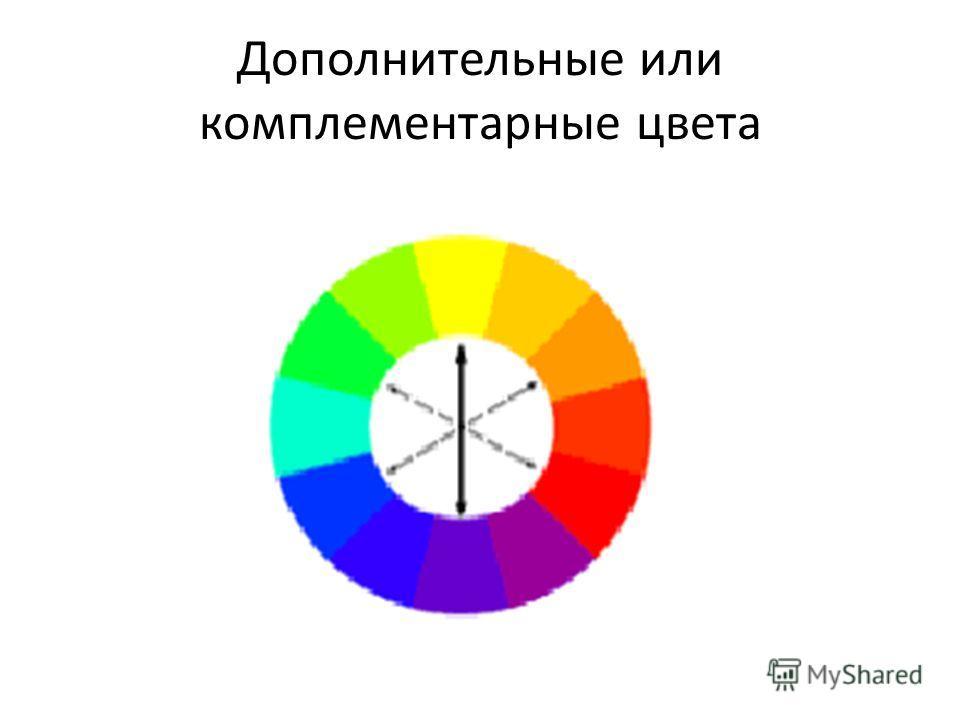 Дополнительные или комплементарные цвета