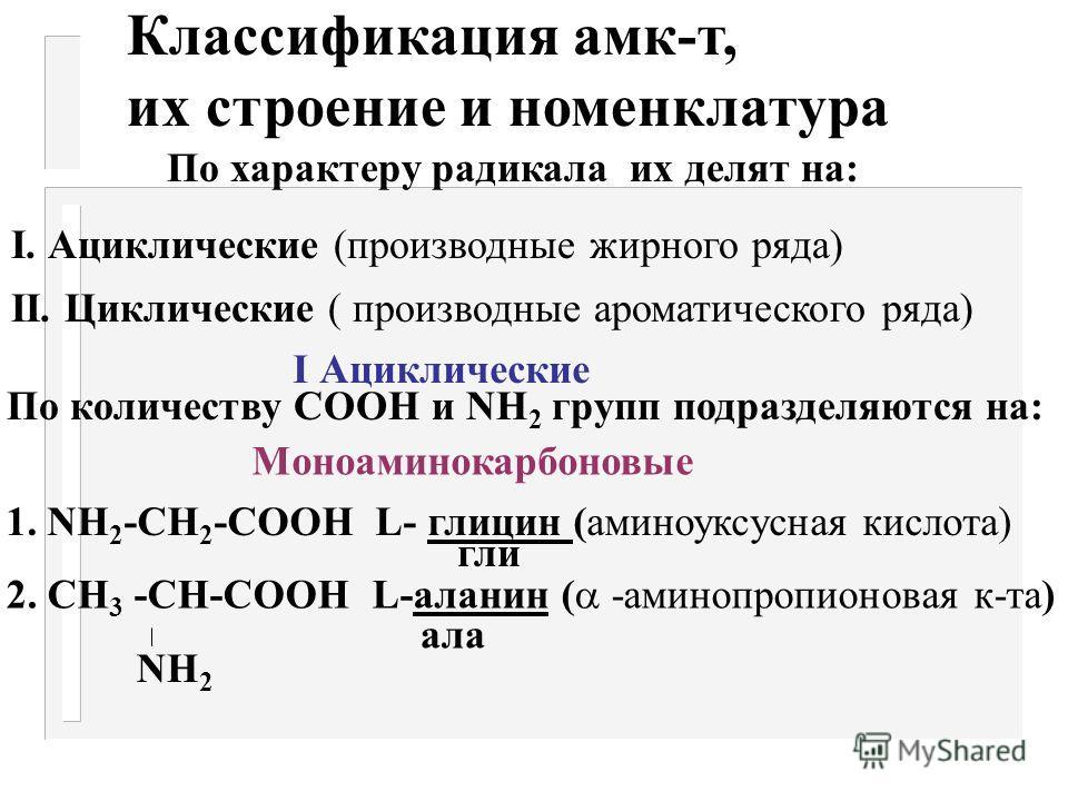 7. Разлагаются азотистой к-той R - СН- СООН + НNО 2 N 2 +Н 2 О +R - СН- СООН NН 2 ОН Цветные реакции с амк-тами: 1. С нингидрином - фиол.окраш. 2. Реакция Миллона - обнаруживает тирозин (красн) 3. Ксантопротеиновая - обнаруживает циклические амк-ты (
