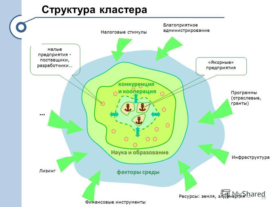 Структура кластера 19