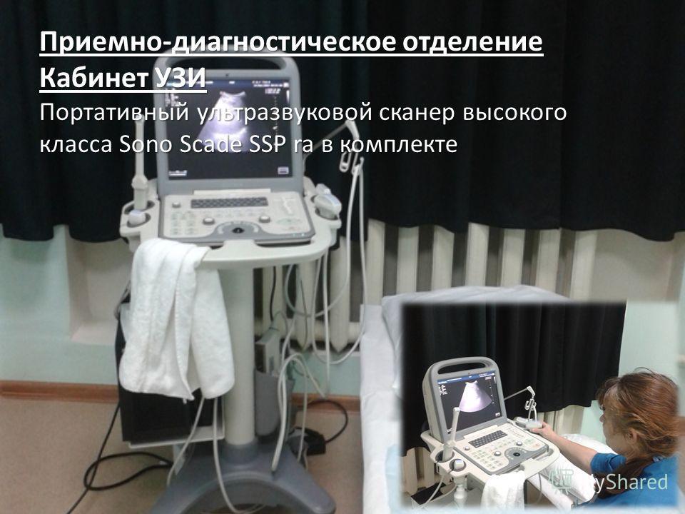 Приемно-диагностическое отделение Кабинет УЗИ Портативный ультразвуковой сканер высокого класса Sono Scade SSP ra в комплекте
