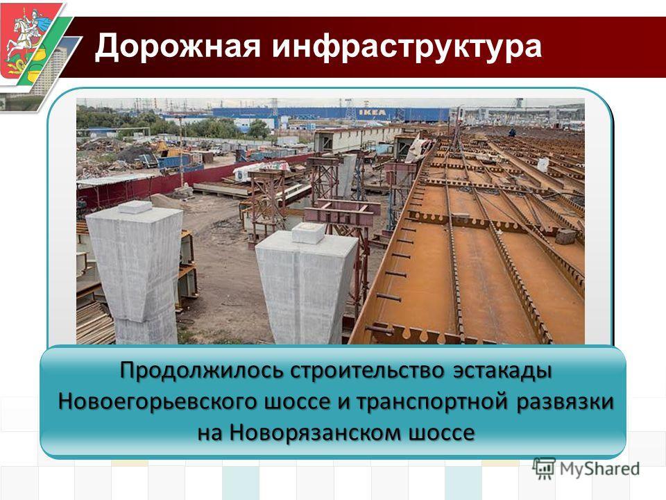 Дорожная инфраструктура Продолжилось строительство эстакады Новоегорьевского шоссе и транспортной развязки на Новорязанском шоссе