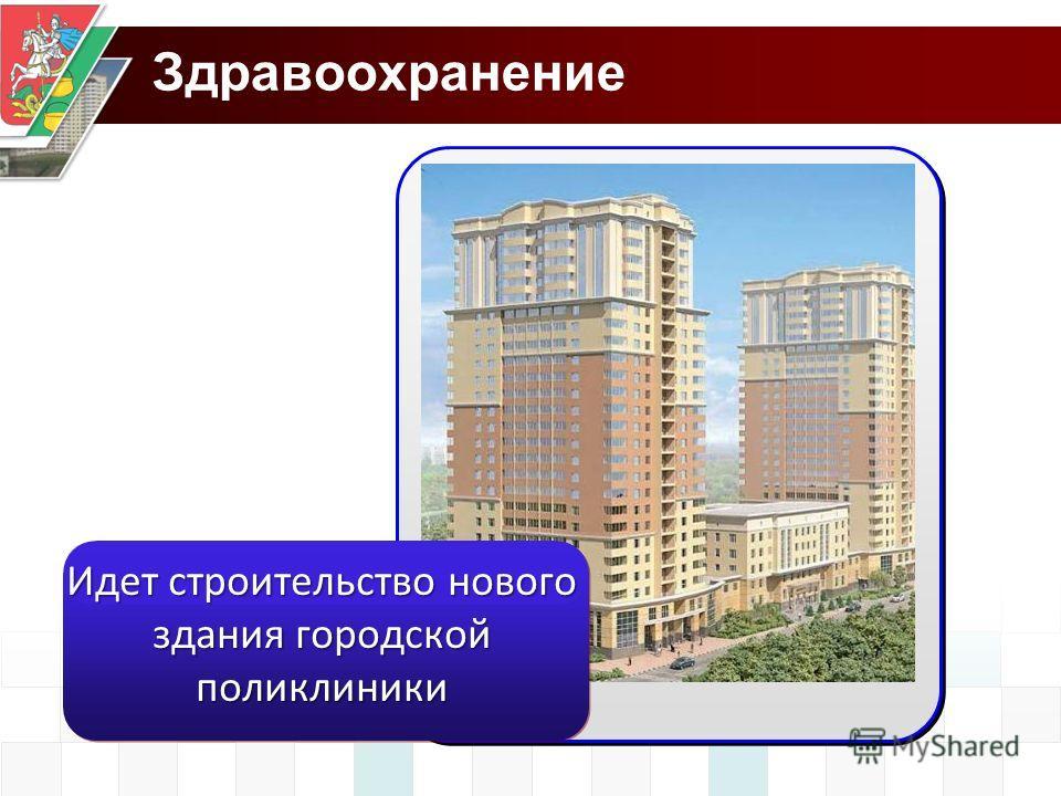 Здравоохранение Идет строительство нового здания городской поликлиники