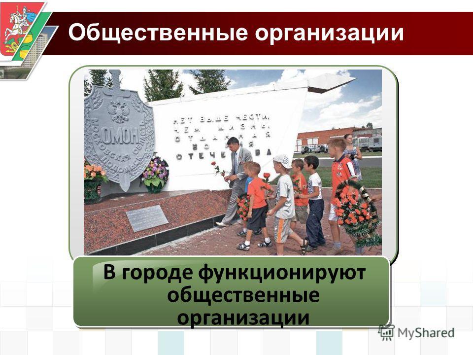 Общественные организации В городе функционируют общественные организации