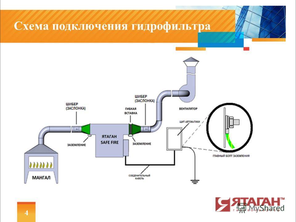 Схема подключения гидрофильтра 4