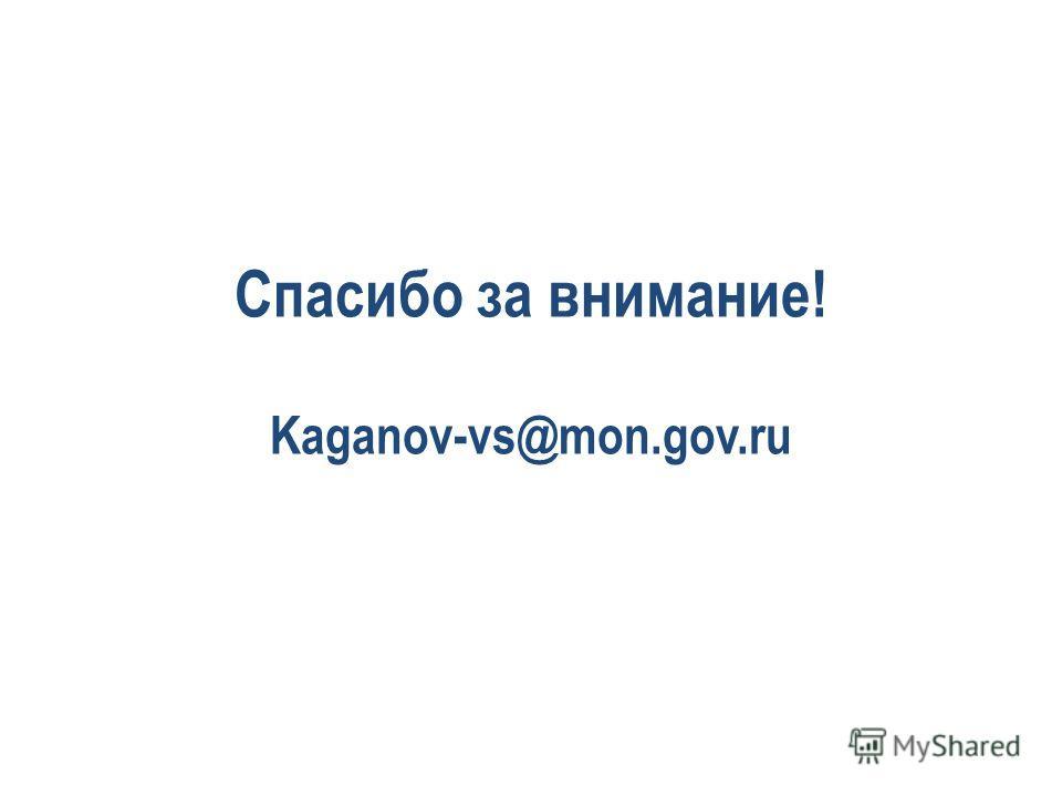 Спасибо за внимание! Kaganov-vs@mon.gov.ru