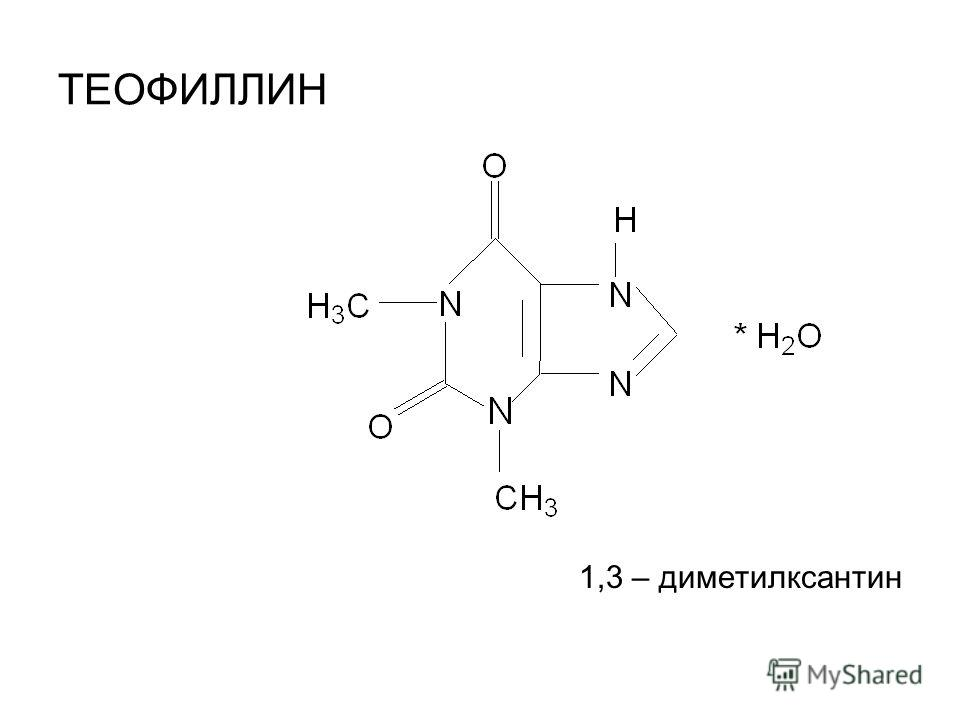 ТЕОФИЛЛИН 1,3 – диметилксантин