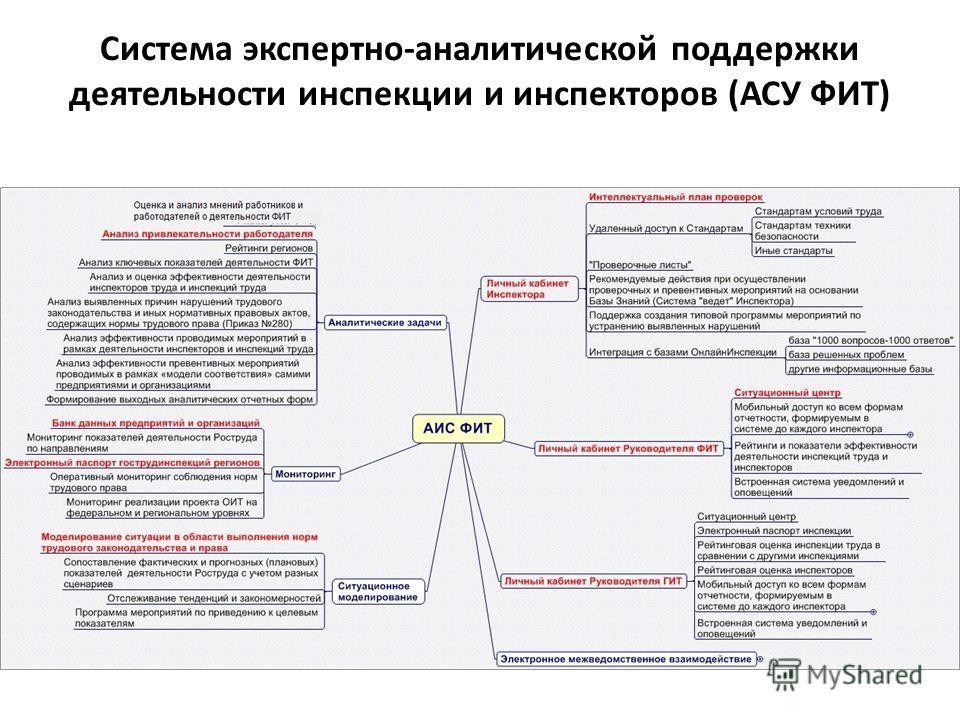 Система экспертно-аналитической поддержки деятельности инспекции и инспекторов (АСУ ФИТ)
