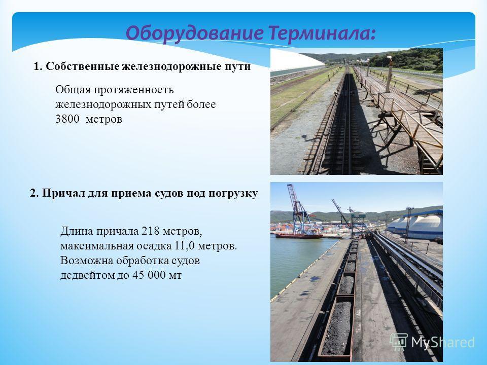 С 1998 по 2012 год основным грузом на Терминале являлось минеральное удобрение. С 2012 года Терминал занимается перегрузкой каменного угля, прибывающего в вагонах по железной дороге.