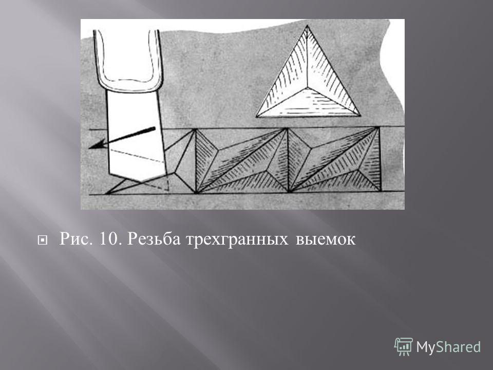 Рис. 10. Резьба трехгранных выемок