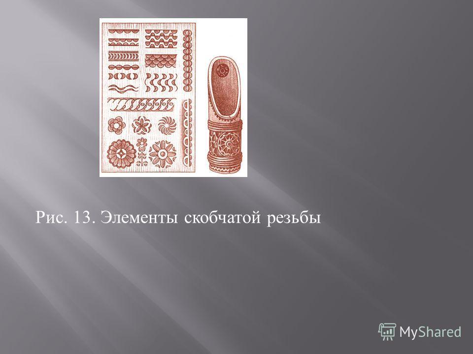 Рис. 13. Элементы скобчатой резьбы