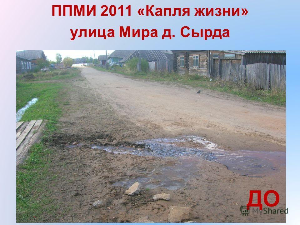 ППМИ 2011 «Капля жизни» улица Мира д. Сырда ДО