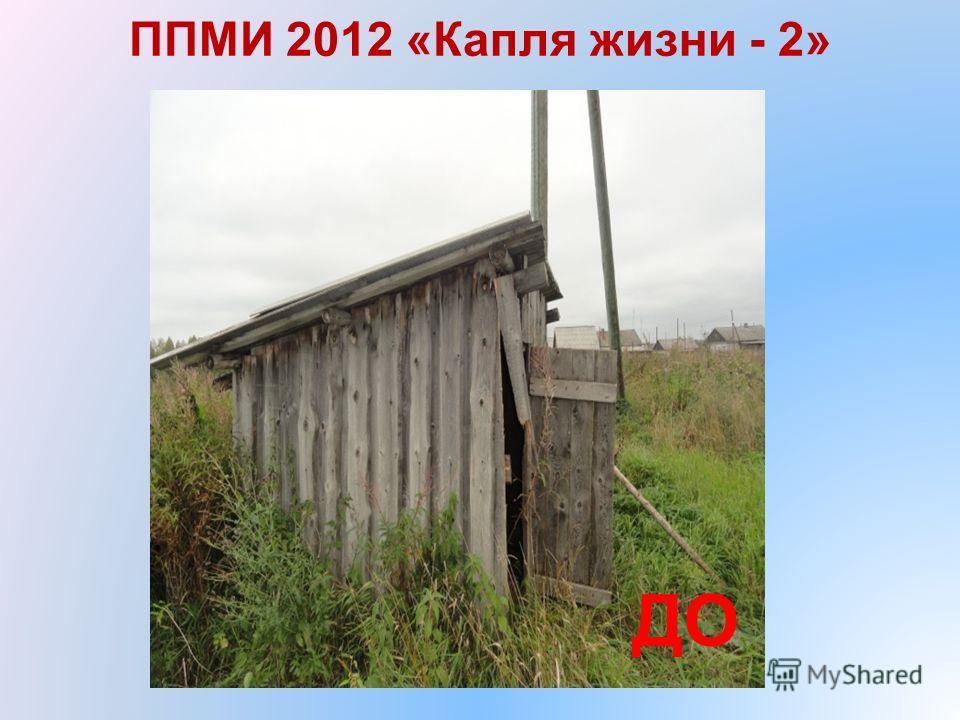 ППМИ 2012 «Капля жизни - 2» ДО