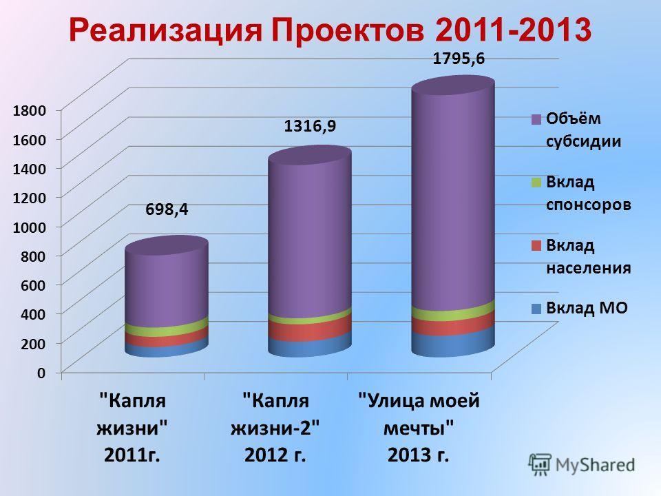 Реализация Проектов 2011-2013