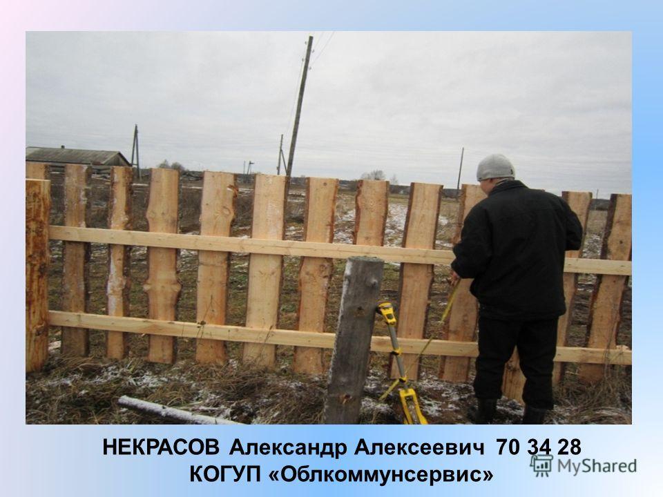 НЕКРАСОВ Александр Алексеевич 70 34 28 КОГУП «Облкоммунсервис»