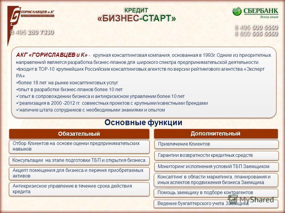 4 4 4 АКГ «ГОРИСЛАВЦЕВ и К» - крупная консалтинговая компания, основанная в 1993г. Одним из приоритетных направлений является разработка бизнес-планов для широкого спектра предпринимательской деятельности. входит в ТОР-10 крупнейших Российских консал