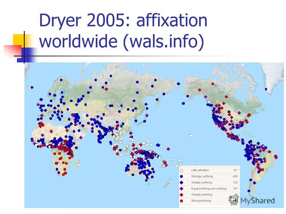 Dryer 2005: affixation worldwide (wals.info)
