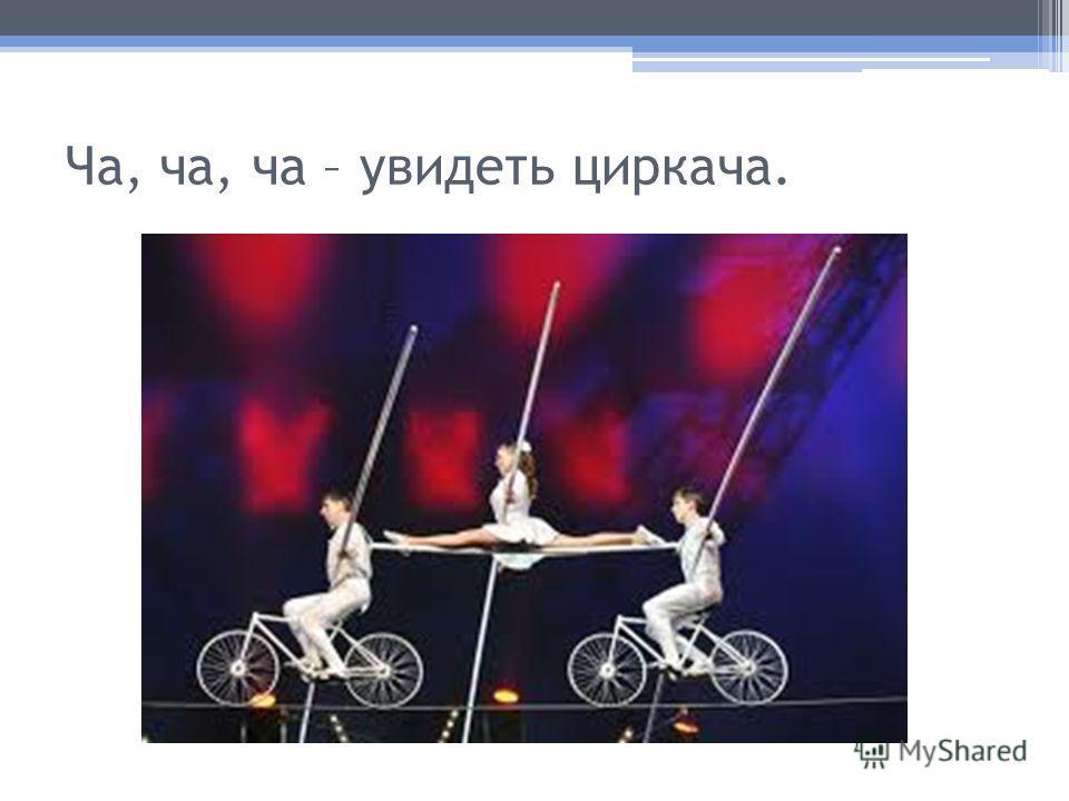 Ча, ча, ча – увидеть циркача.