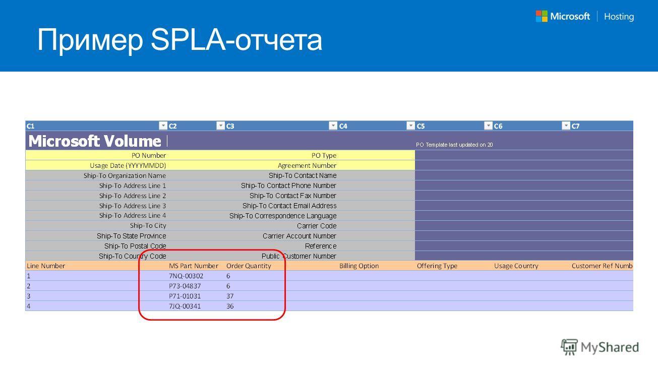 Пример SPLA-отчета
