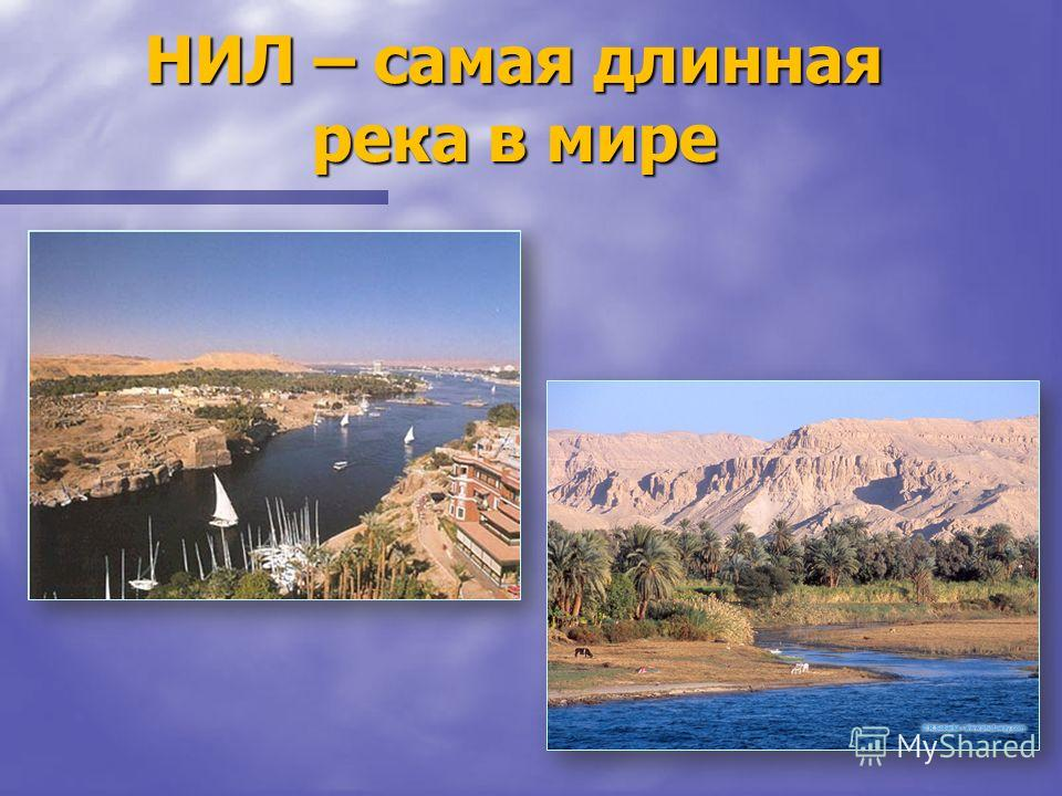 НИЛ – самая длинная река в мире
