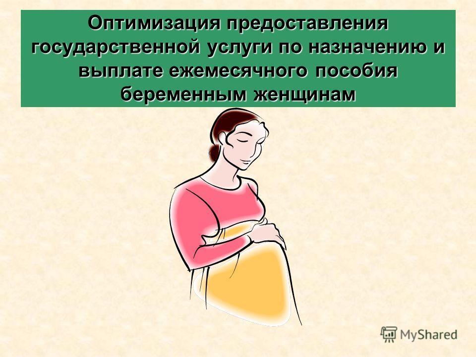 Оптимизация предоставления государственной услуги по назначению и выплате ежемесячного пособия беременным женщинам