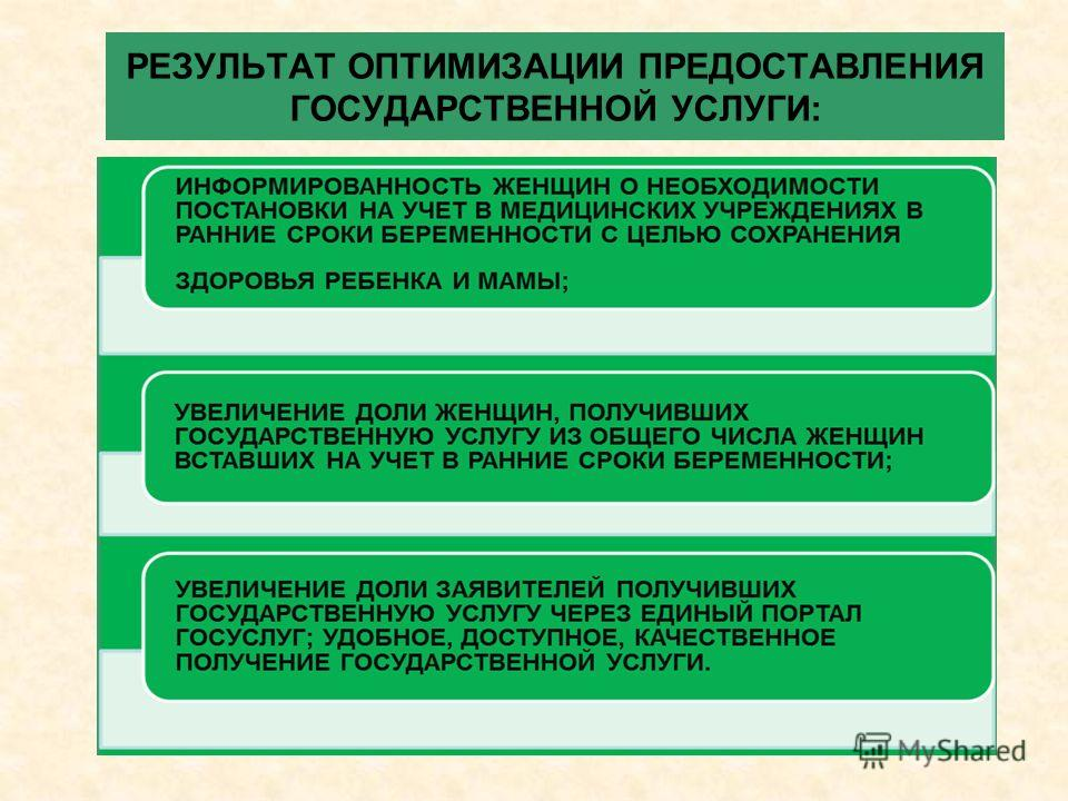 РЕЗУЛЬТАТ ОПТИМИЗАЦИИ ПРЕДОСТАВЛЕНИЯ ГОСУДАРСТВЕННОЙ УСЛУГИ: