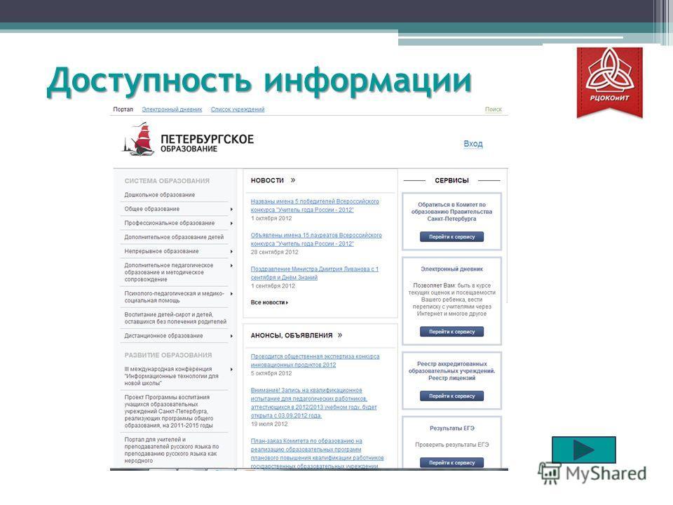 Доступность информации