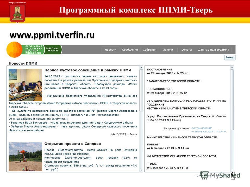 18 Программный комплекс ППМИ-Тверь www.ppmi.tverfin.ru