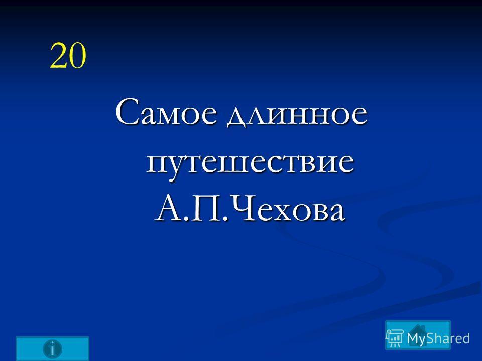 Самое длинное путешествие А.П.Чехова 20