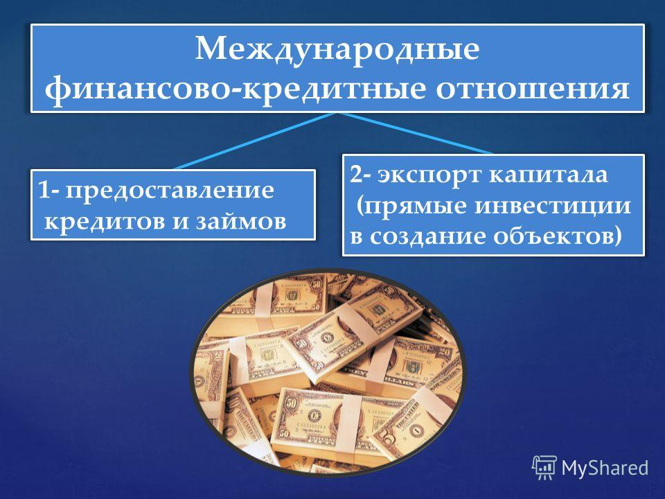 Прямые кредитные отношения