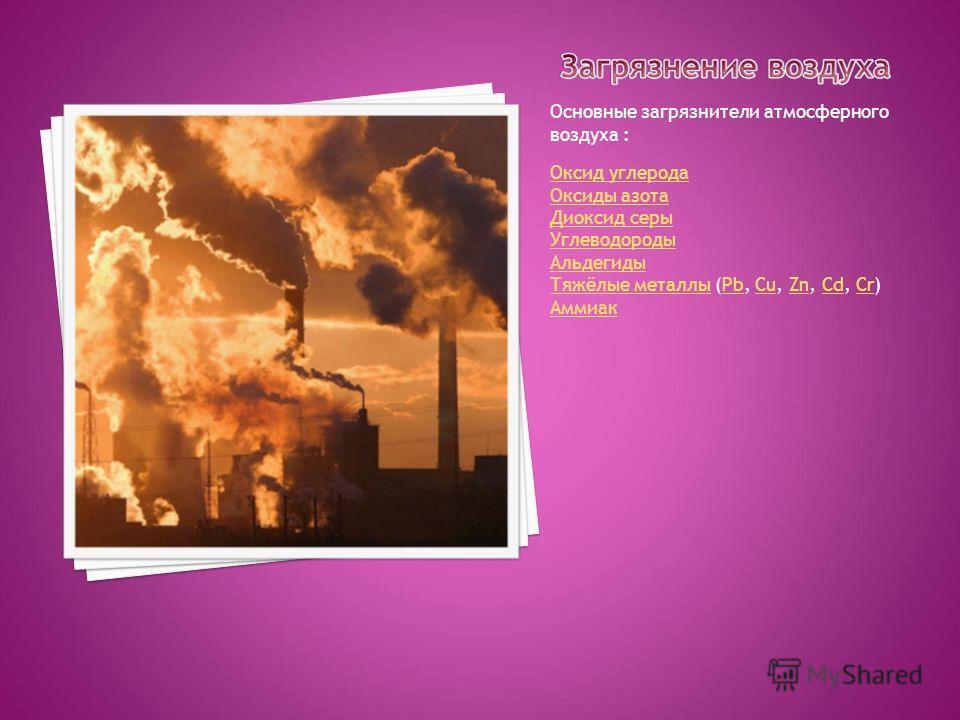 За последние 25-30 лет транспорт и промышленность взяли из атмосферы больше кислорода, чем его потреблено человечеством за всю историю своего существования. За те же годы в атмосферу были выброшены из заводских труб миллиарды тонн углекислого и угарн