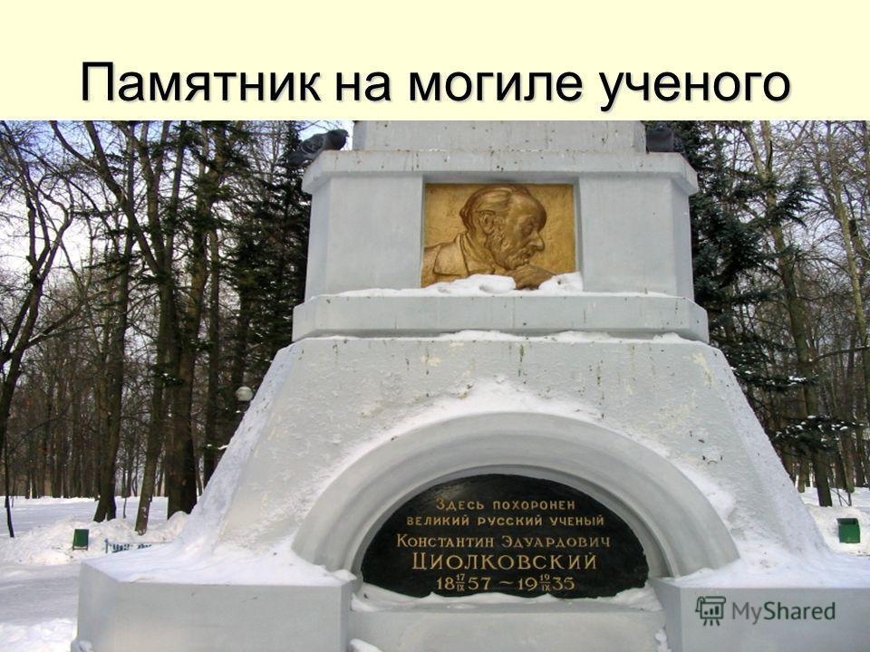 Памятник на могиле ученого