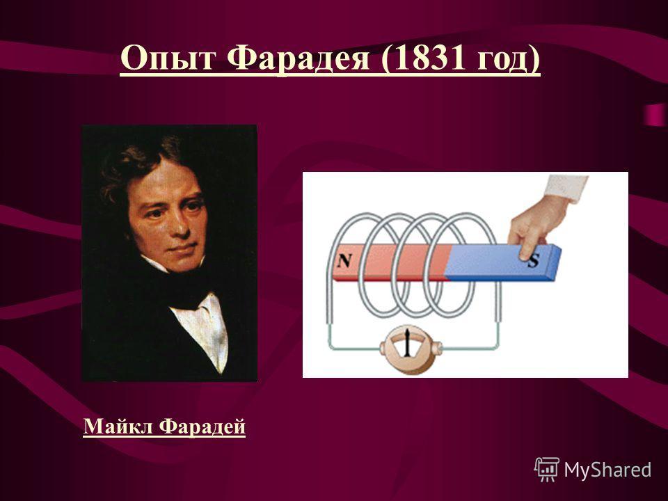Опыт Фарадея (1831 год) Майкл Фарадей