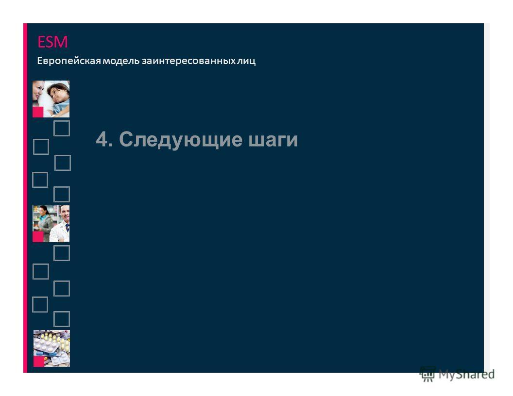 4. Следующие шаги ESM Европейская модель заинтересованных лиц