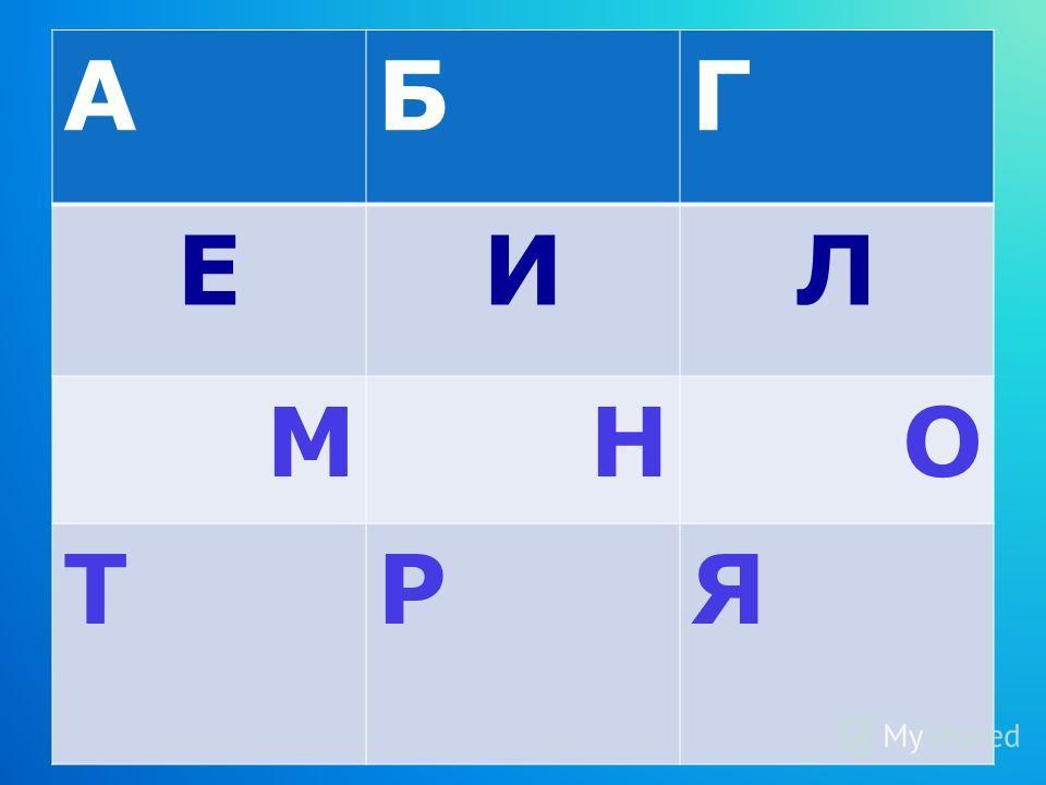 АБГ ЕИЛ МНО ТРЯ