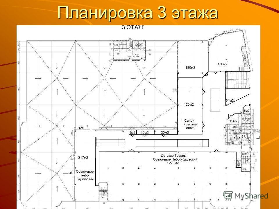 Планировка 3 этажа