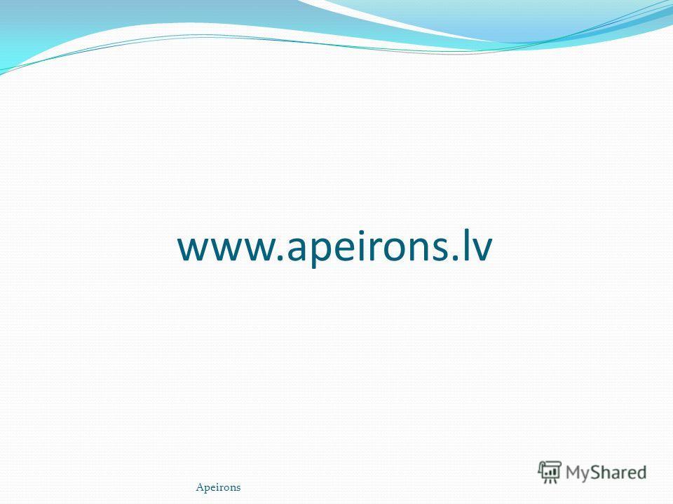 www.apeirons.lv Apeirons