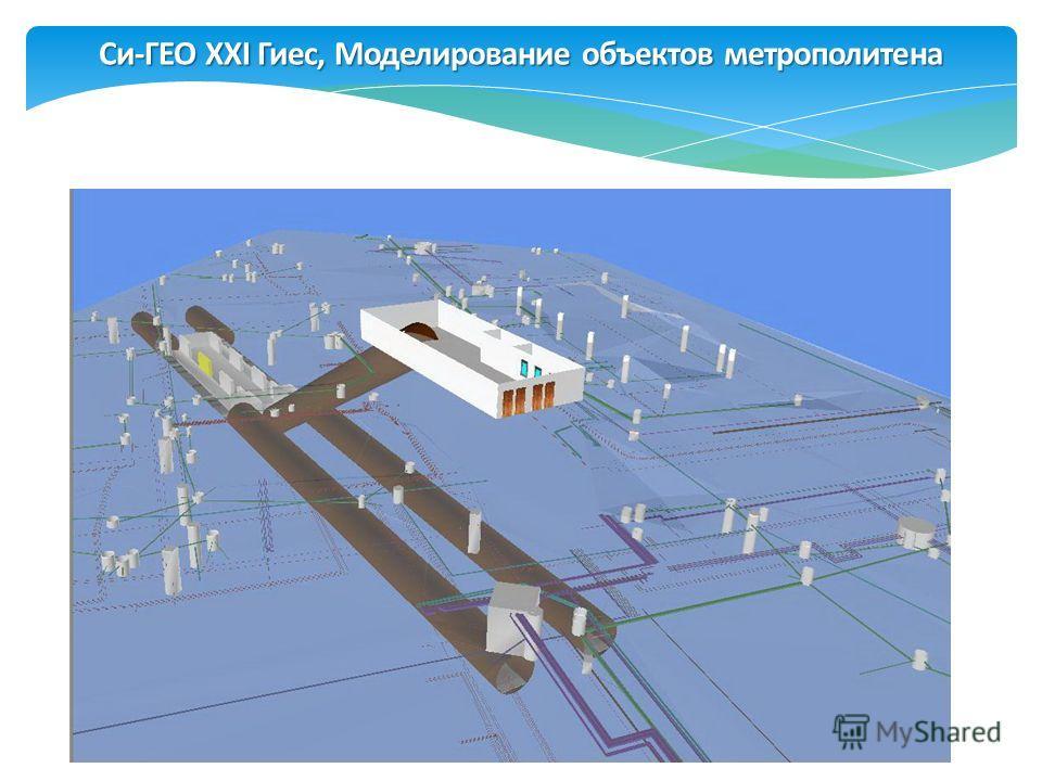 Си-ГЕО XXI Гиес, Моделирование объектов метрополитена