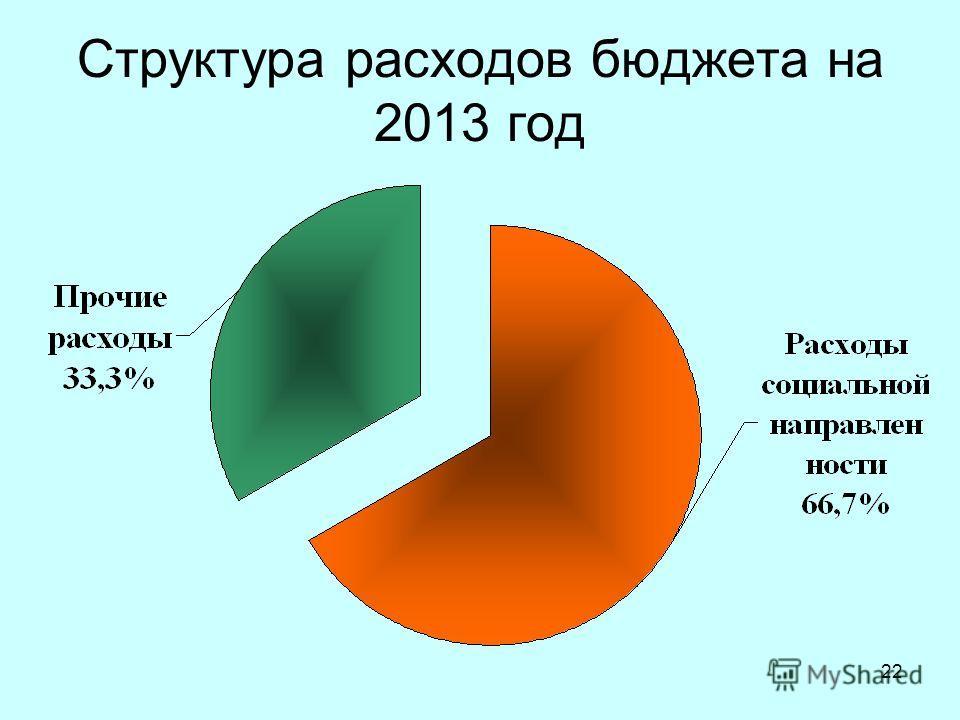 22 Структура расходов бюджета на 2013 год