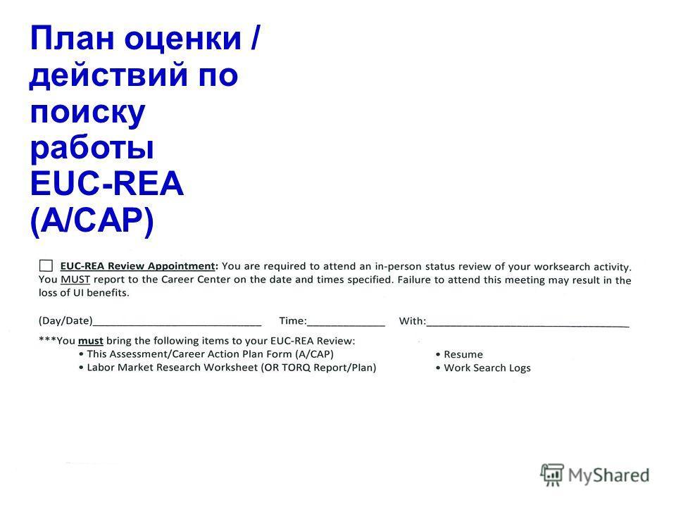 48 План оценки / действий по поиску работы EUC-REA (A/CAP)