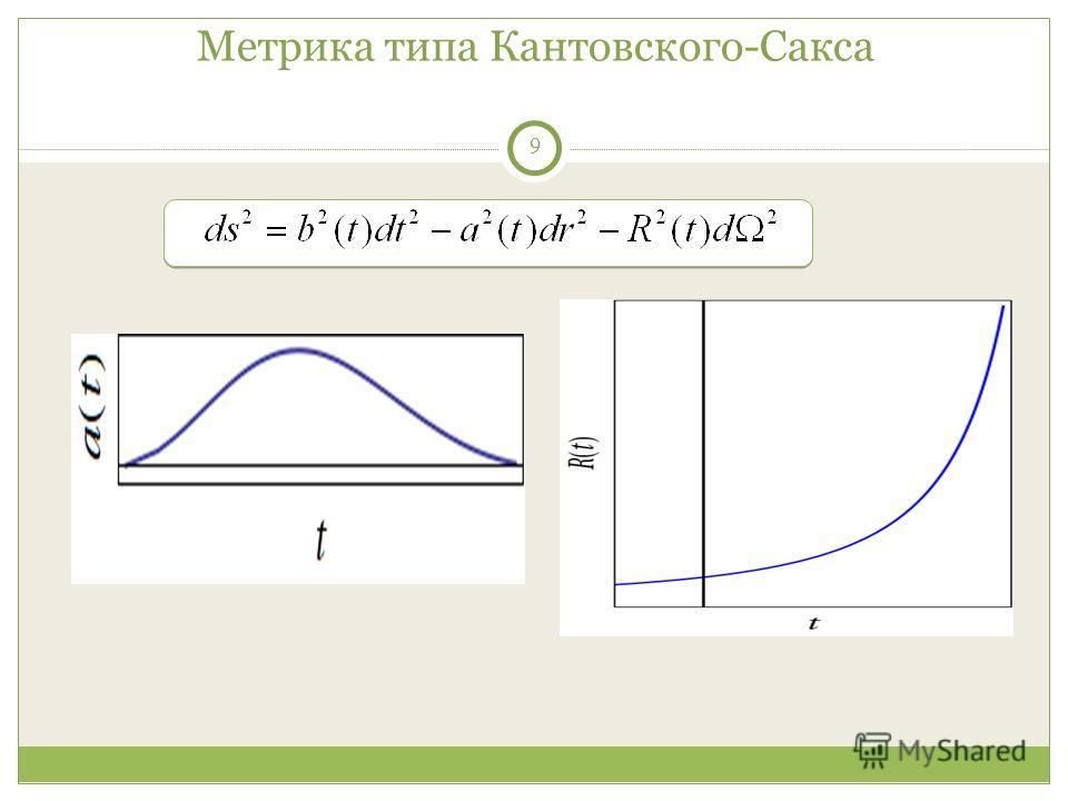 9 Метрика типа Кантовского-Сакса