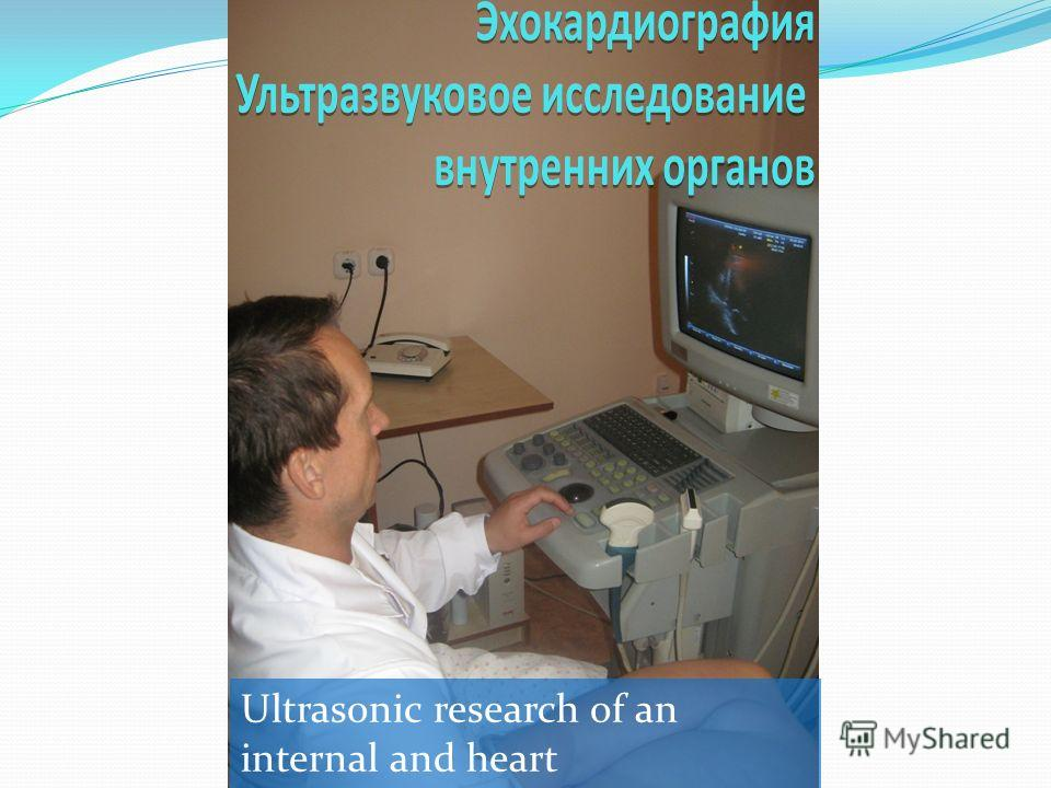 Ultrasonic research of an internal and heart