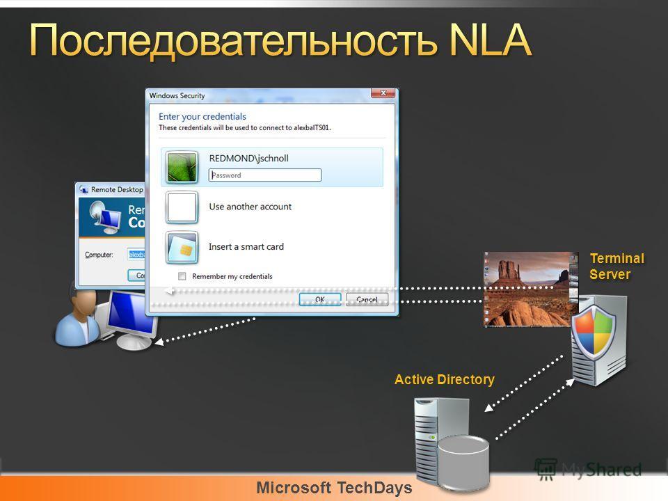 Microsoft TechDays Terminal Server Active Directory